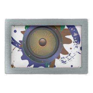 Grunge Audio Speaker 3 Belt Buckle
