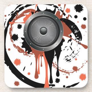 Grunge Audio Speaker Drink Coaster