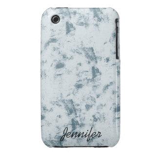 Grunge azul abstracto iPhone 3 carcasa