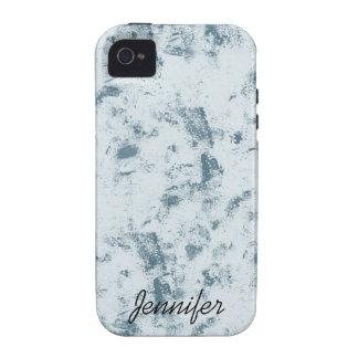 Grunge azul abstracto Case-Mate iPhone 4 carcasa