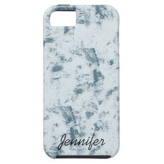 Grunge azul abstracto iPhone 5 cárcasas