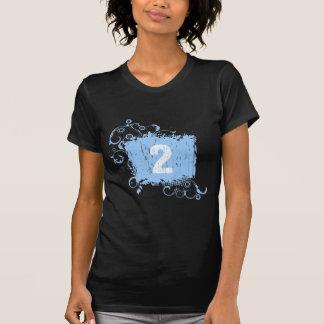 Grunge azul claro #2 camiseta