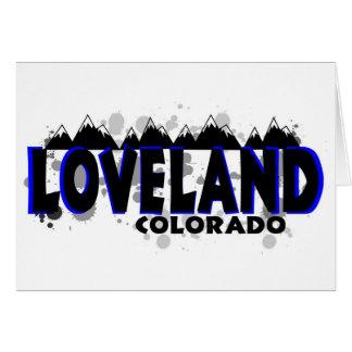 Grunge azul de neón Loveland Colorado Tarjeta De Felicitación