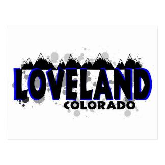 Grunge azul de neón Loveland Colorado Tarjeta Postal