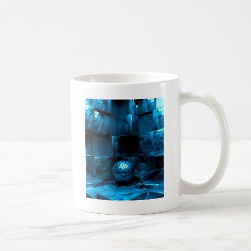Grunge azul taza de café