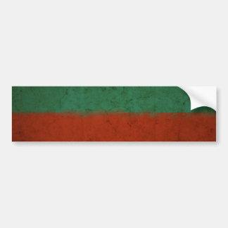 Grunge azulverde rojo de los campos de color del a pegatina de parachoque