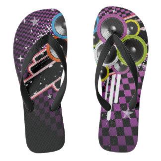 Grunge background flip flops