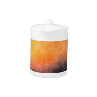 Grunge background teapot