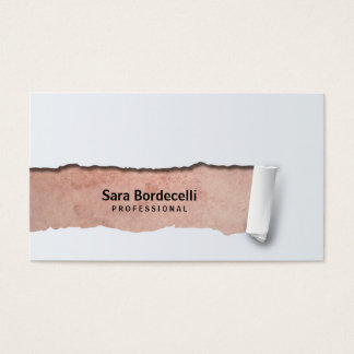 Grunge BackgroundRipped Professional Business Card