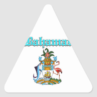 Grunge Bahamas coat of arms designs Triangle Stickers