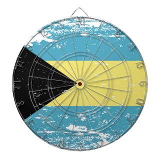 Grunge Bahamas Flag Dartboard With Darts