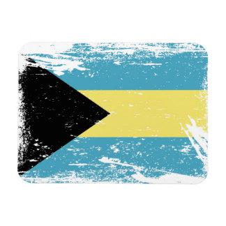 Grunge Bahamas Flag Magnet