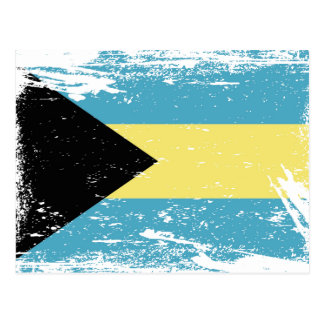 Grunge Bahamas Flag Postcard