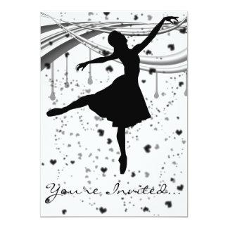 "Grunge Ballerina Invitation 5"" X 7"" Invitation Card"