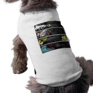 grunge-bandera-vector camisa de perro