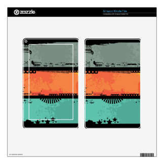 Grunge banners illustration 2 decal for kindle fire