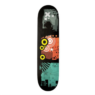 Grunge banners illustration 2 skateboard deck
