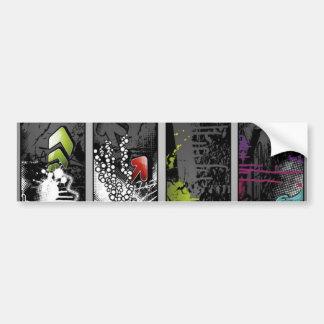 grunge-banners-vector car bumper sticker