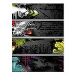 grunge-banners-vector postcard