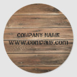 grunge barn wood  Construction Carpentry Classic Round Sticker