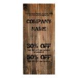 grunge barn wood  Construction Carpentry Rack Card