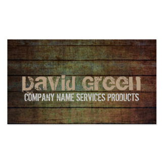 grunge barn wood contractor construction business card