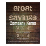 Grunge Barn Wood Contractor Construction Business Flyer at Zazzle