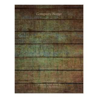 grunge barn wood contractor construction business letterhead