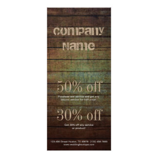 grunge barn wood contractor construction business rack card