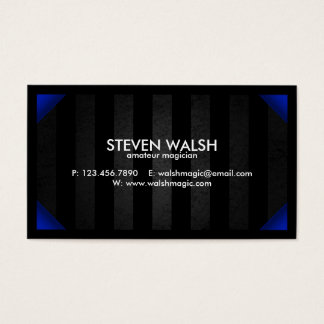 Grunge Bars & Colored Corners - Blue Business Card