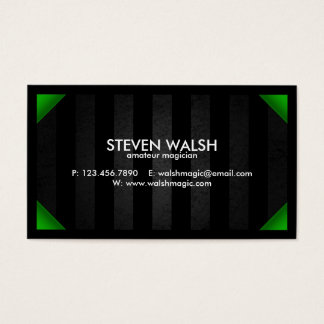 Grunge Bars & Colored Corners - Green Business Card