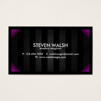 Grunge Bars & Colored Corners - Purple Business Card
