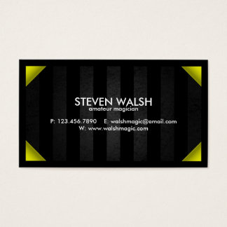 Grunge Bars & Colored Corners - Yellow Business Card