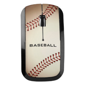 Grunge Baseball Design Wireless Mouse