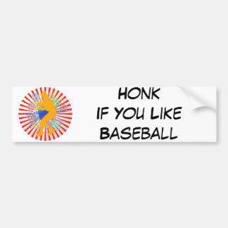 Grunge Baseball Player Bumper Sticker