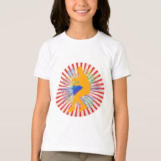 Grunge Baseball Player Girls Ringer T-Shirt