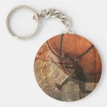 Grunge Basketball Basic Round Button Keychain