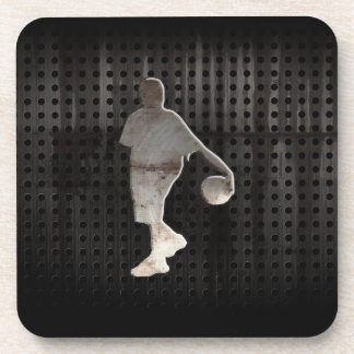 Grunge Basketball Beverage Coaster