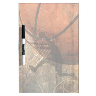 Grunge Basketball Dry-Erase Whiteboard