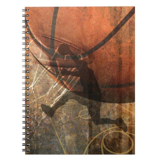 Grunge Basketball Notebook