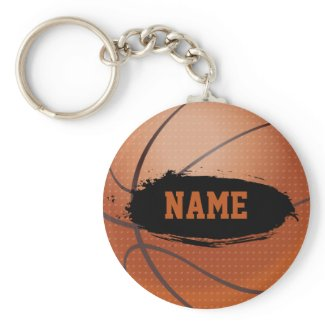 Grunge Basketball Personalised Keychain keychain