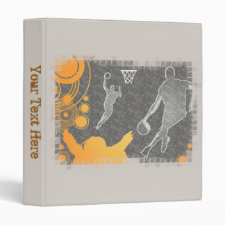 Grunge Basketball Players and Fan 3 Ring Binder
