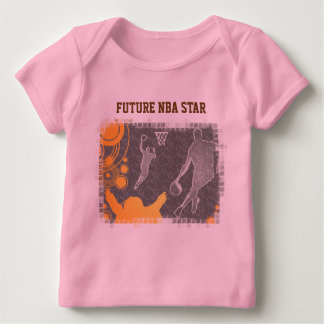 Grunge Basketball Players and Fan Baby T-Shirt