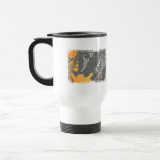 Grunge Basketball Players and Fan Coffee Mugs