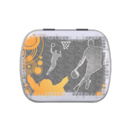 Grunge Basketball Players and Fan Jelly Belly Candy Tins