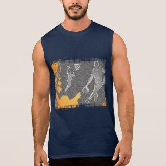 Grunge Basketball Players and Fan Sleeveless Shirt