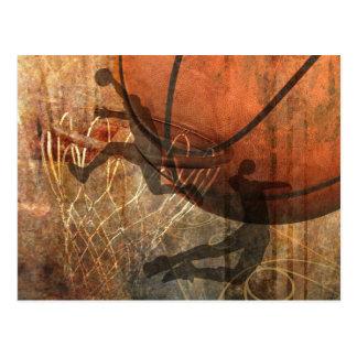 Grunge Basketball Postcard