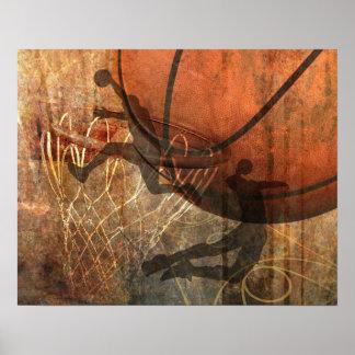 Grunge Basketball Poster