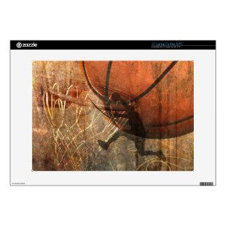 """Grunge Basketball 15"""" Laptop Skin"""