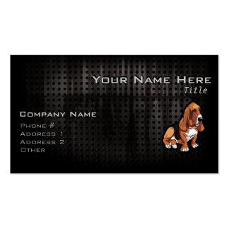 Grunge Basset Hound Business Card Templates